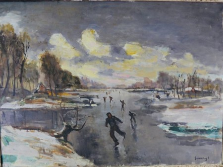 Skaters on the Leie